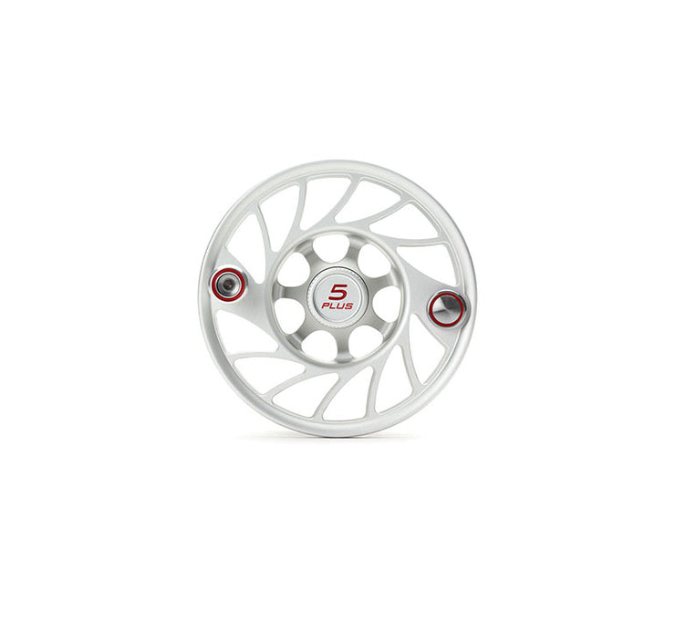 Hatch Finatic Gen 2 5 Plus Extra Spool with Clear body and Red Paint Fill, Mid Arbor
