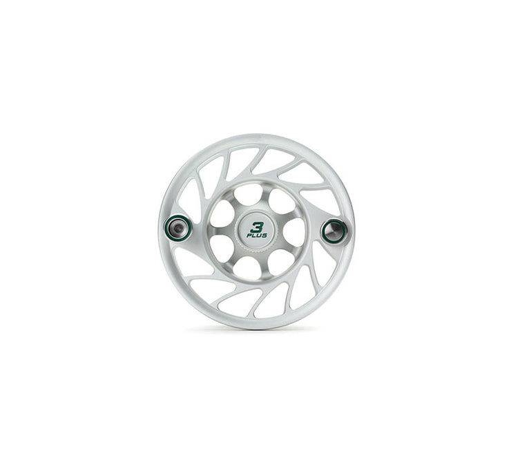Hatch Finatic Gen 2 3 Plus Extra Spool with Clear body and Green Paint Fill, Mid Arbor