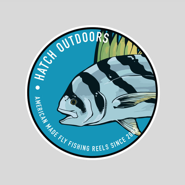 [NEW] Rooster Fish Sticker