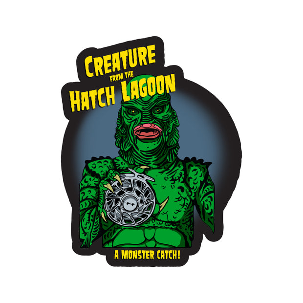 Creature From The Hatch Lagoon Sticker