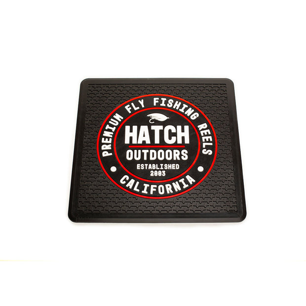 hatch outdoors premium bar rubber bar mat with red and white hatch logo