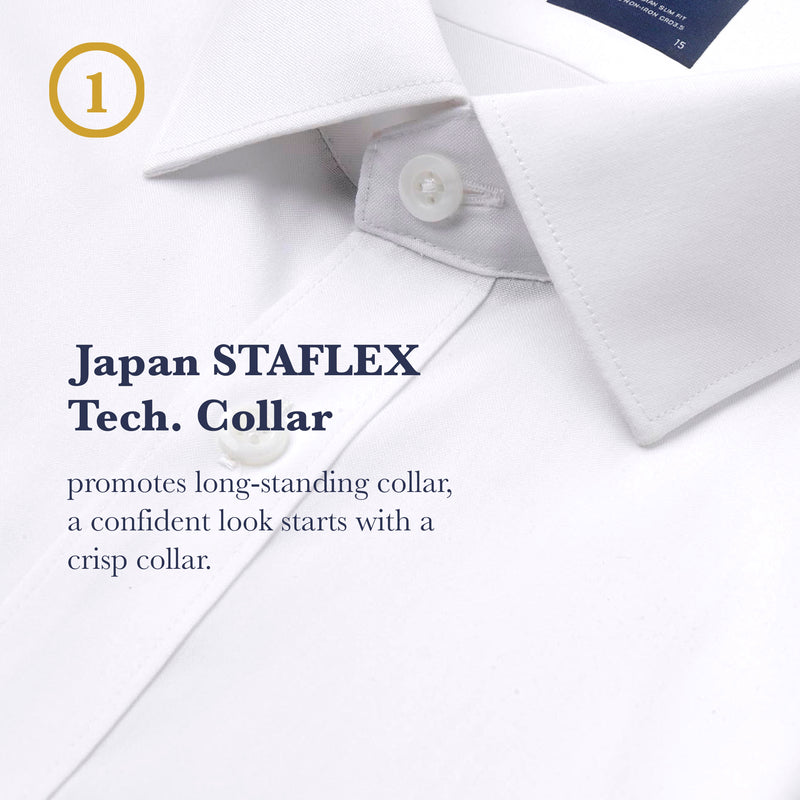 Men Relax Fit Supima Semi-Cut Collar with Pocket