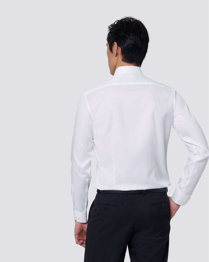 Men Supima Slim Fit Semi-Cut Collar with Pocket