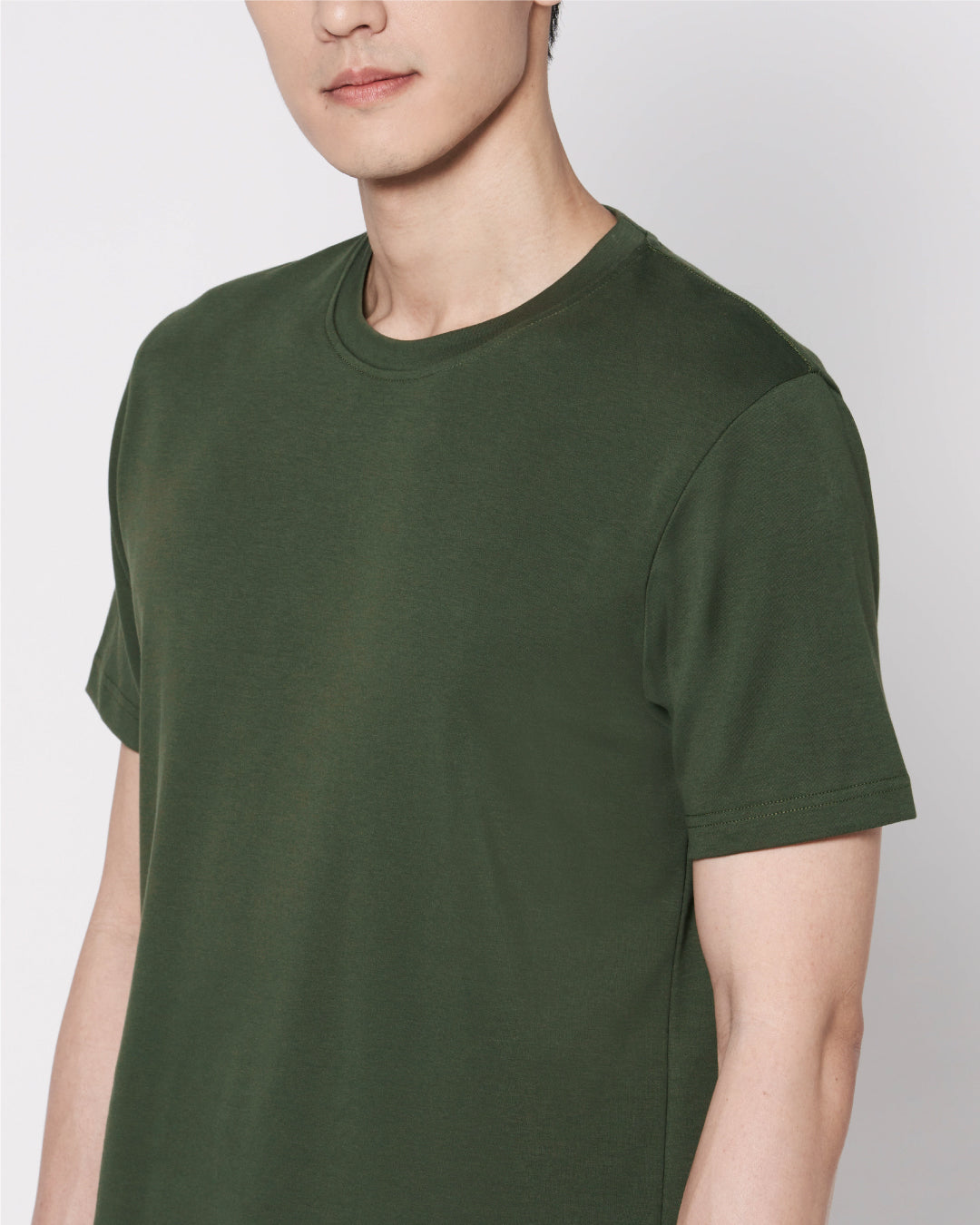 Men Premium Weight Cotton Crew Neck Tee