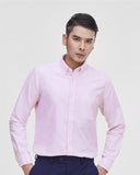Men Oxford Regular Fit Button Down Collar