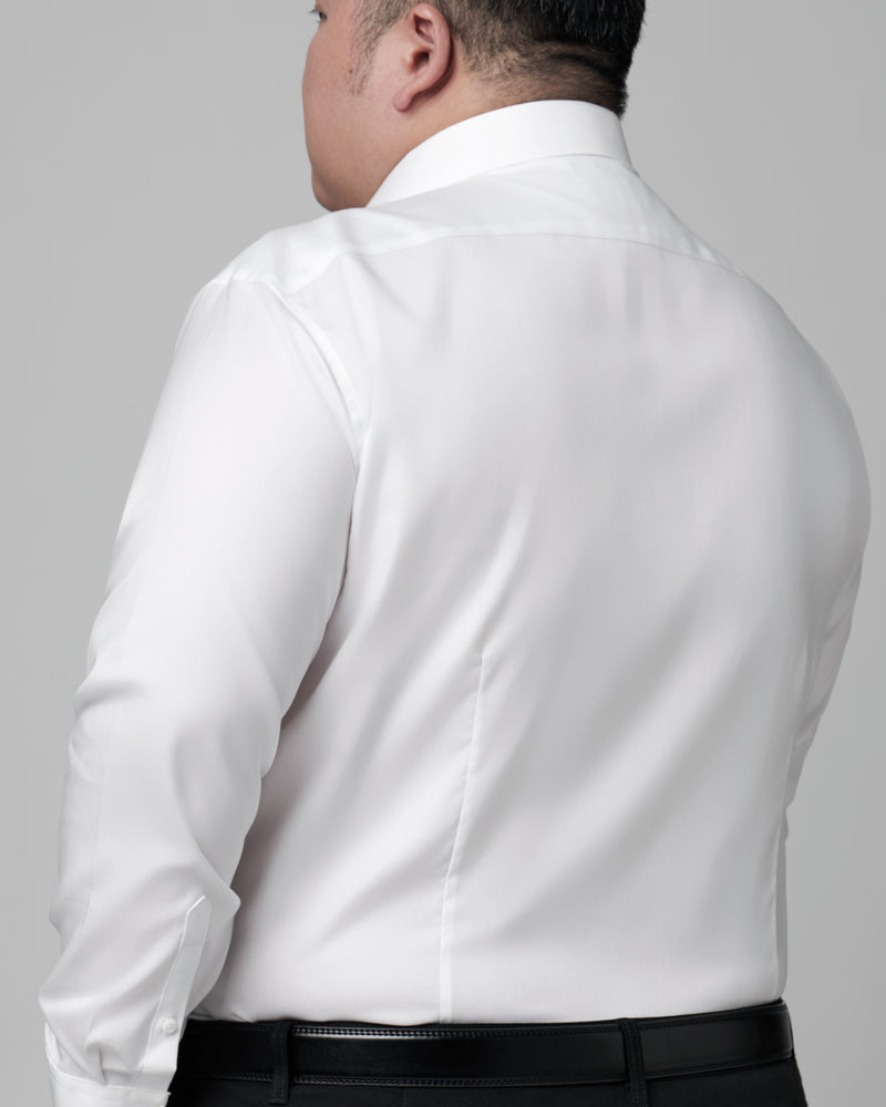 Men Plus Size Supima Semi-Cut Collar with Pocket