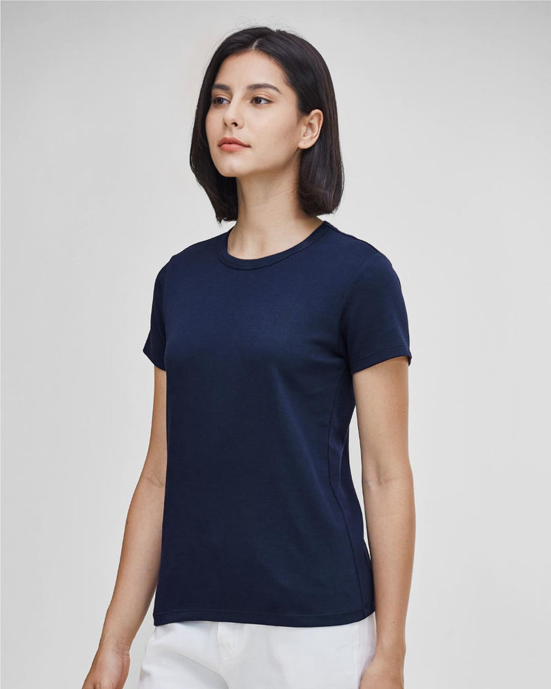 Women Premium Weight Cotton Crew Neck Tee