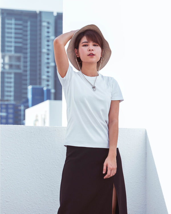 Women Cotton Crew Neck Short Sleeve T-Shirt