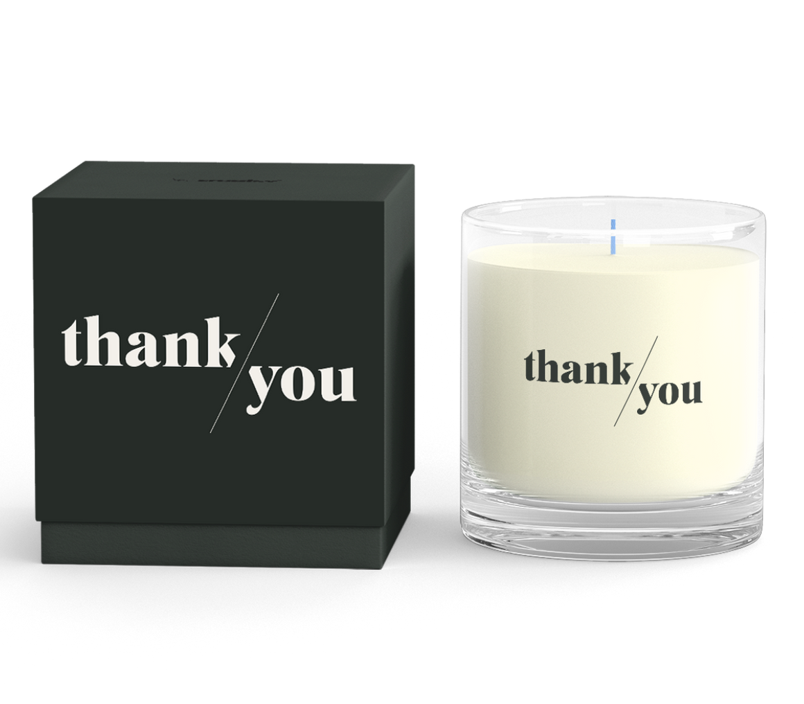RateMyAgent Client Candle + Thank You Card