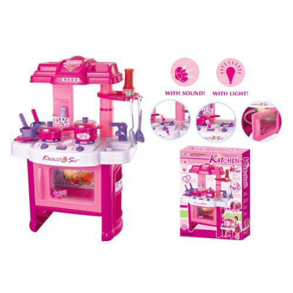 24 Deluxe Beauty Kitchen Appliance Cooking Play Set 24 With Lights & Sound