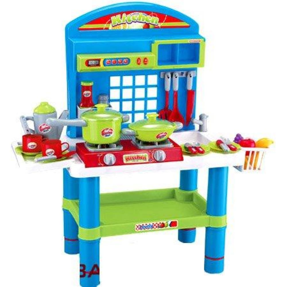 28 Deluxe Kitchen Appliance Cooking Play Set 28 With Lights & Sound