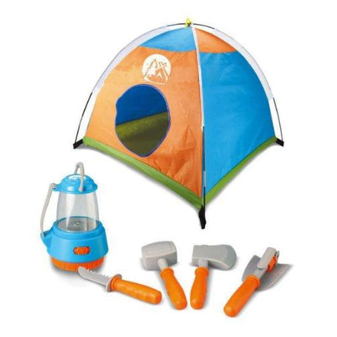 38 Little Explorer Camping Tent And Tools Play Set For Kids With Lantern