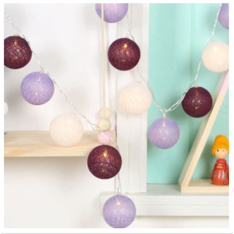 Image of Cotton Ball LED String Tent Lights