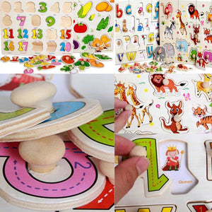Babies And Kids Wood Jigsaw Puzzles- Educational Puzzle Toys- Learning Numbers