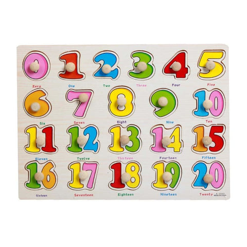 Image of Babies And Kids Wood Jigsaw Puzzles- Educational Puzzle Toys- Learning Numbers - Toy