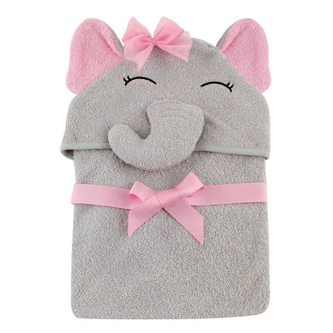 Image of Baby Animal Face Hooded Towel - Elephant