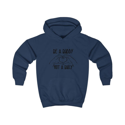 Be A Buddy Not A Bully Kids Hoodie - Oxford Navy / XS - Kids clothes