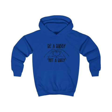 Image of Be A Buddy Not A Bully Kids Hoodie - Royal Blue / XS - Kids clothes