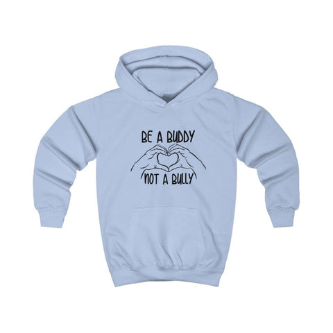 Image of Be A Buddy Not A Bully Kids Hoodie - Sky Blue / L - Kids clothes