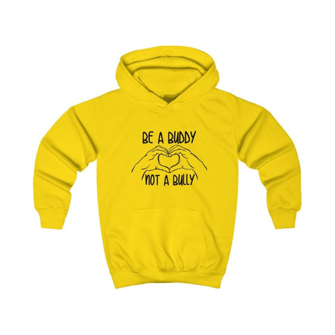Image of Be A Buddy Not A Bully Kids Hoodie - Sun Yellow / XS - Kids clothes