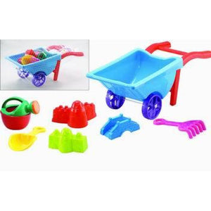 Beach Toy Playset With Wheelbarrow (Colors May Vary)