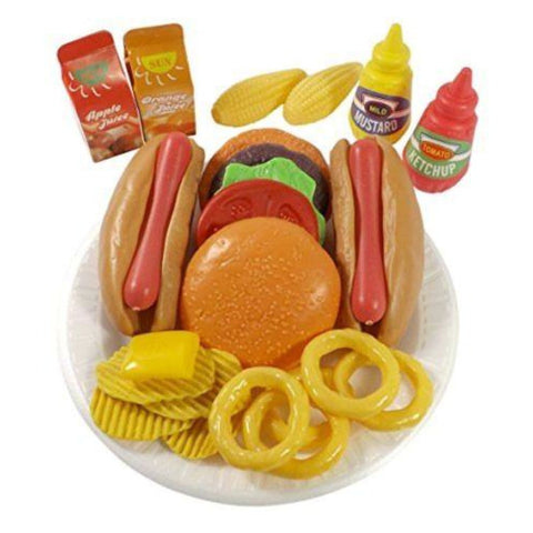 Burger & Hot Dog Fast Food Cooking Play Set