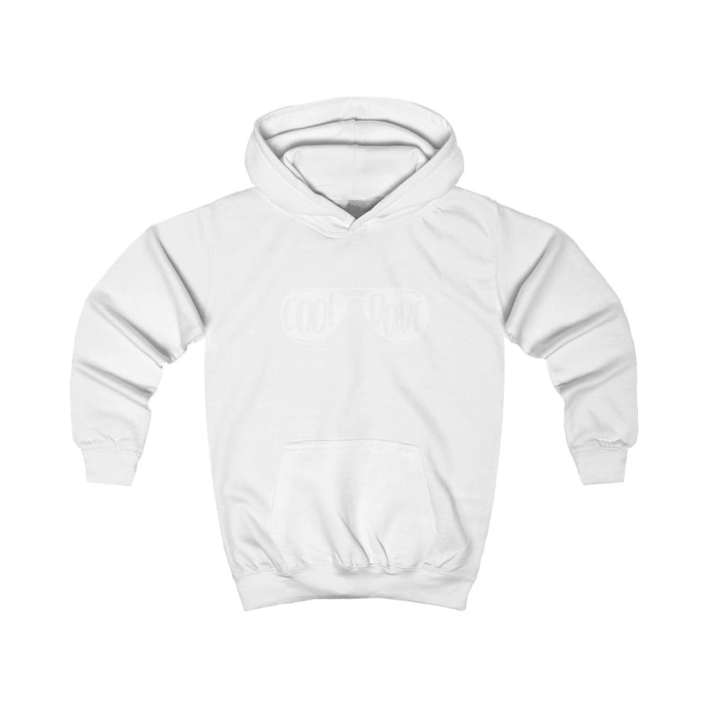 Cool Dude Kids Hoodie - Arctic White / XS - Kids clothes