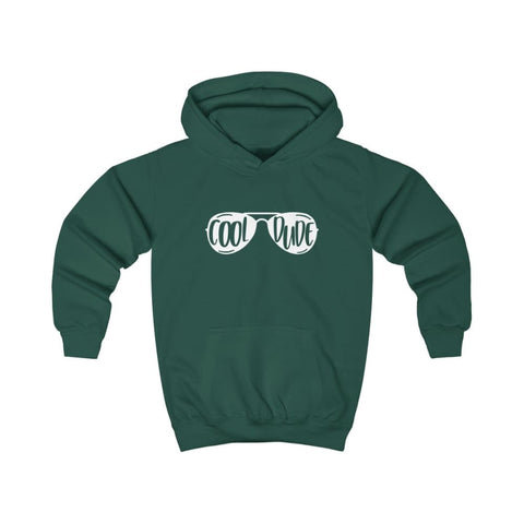 Image of Cool Dude Kids Hoodie - Bottle Green / XS - Kids clothes