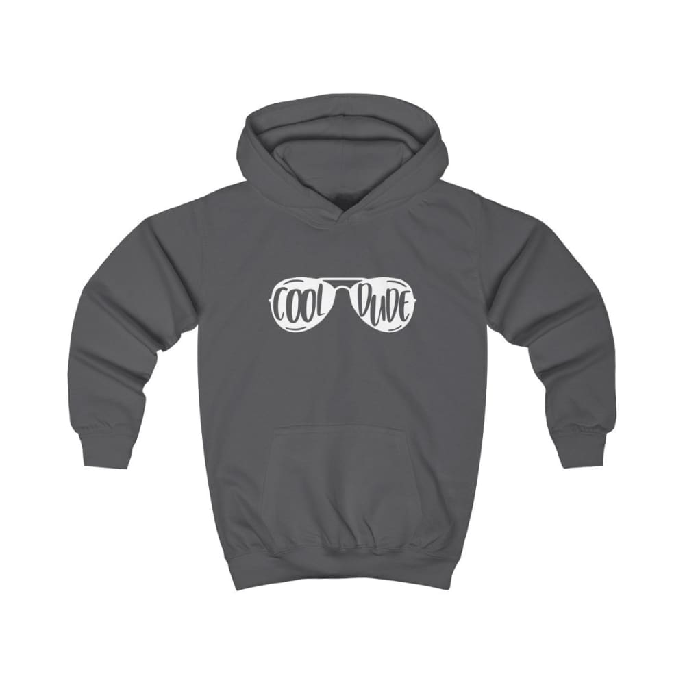 Cool Dude Kids Hoodie - Charcoal / XS - Kids clothes