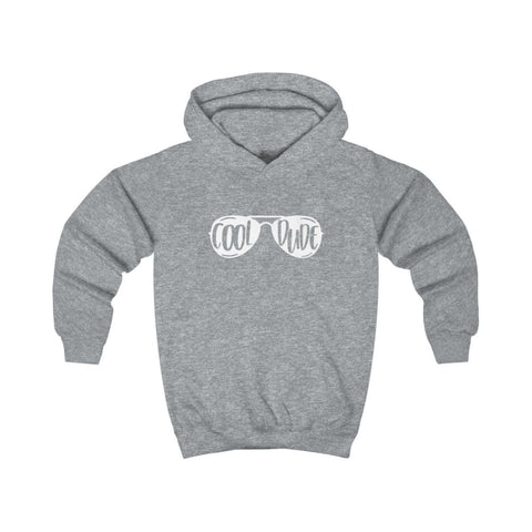 Image of Cool Dude Kids Hoodie - Heather Grey / XS - Kids clothes