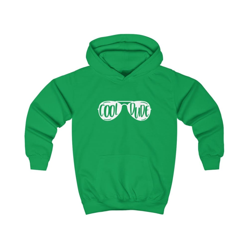 Cool Dude Kids Hoodie - Kelly Green / XS - Kids clothes