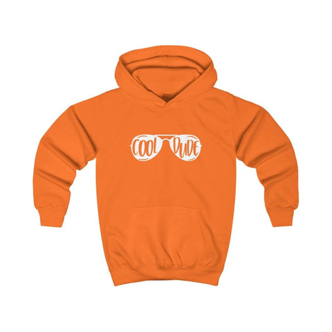 Cool Dude Kids Hoodie - Orange Crush / XS - Kids clothes