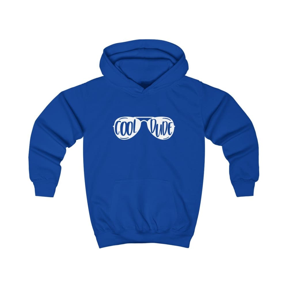 Cool Dude Kids Hoodie - Royal Blue / XS - Kids clothes