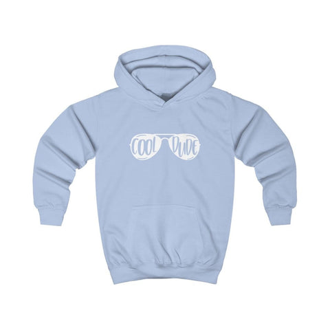 Cool Dude Kids Hoodie - Sky Blue / XS - Kids clothes