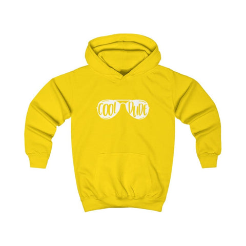 Cool Dude Kids Hoodie - Sun Yellow / XS - Kids clothes