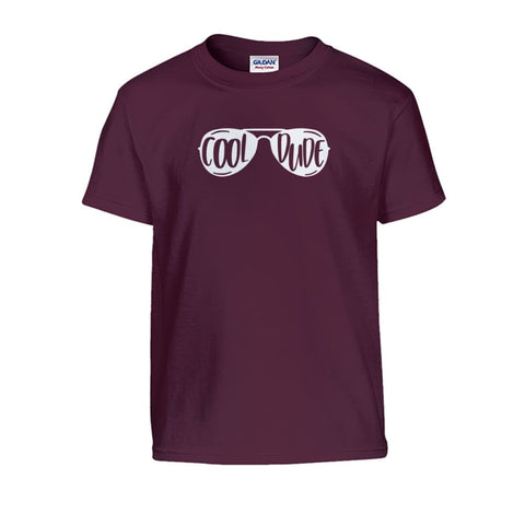 Cool Dude Kids Tee - Maroon / S - Kids