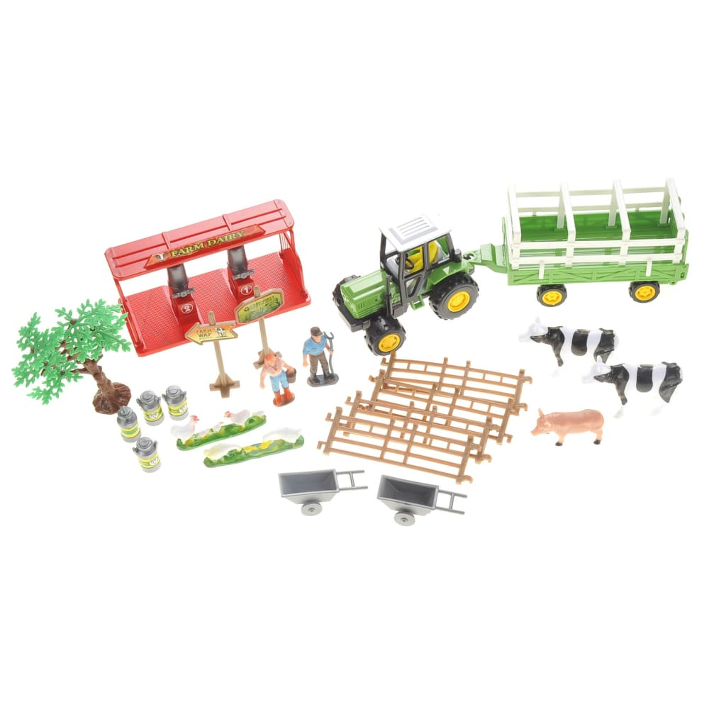 Dairy Farm Playset With Tractor