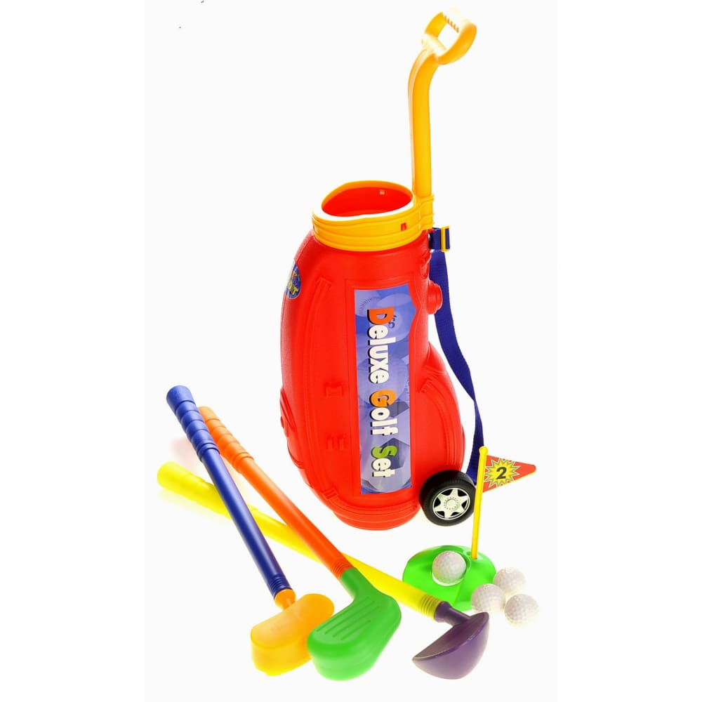 Deluxe Toy Golf Set For Kids With Easy Storage (Red)