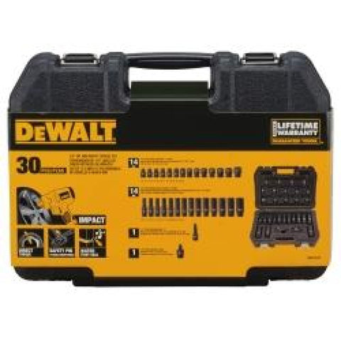 Dewalt 30pc Mm 1-2drive Impact Combination Set - Tool