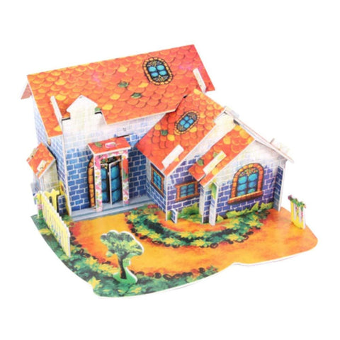 Image of Diy Building Assembly Model Puzzles Lovely 3d Puzzles Farmhouse - Toy