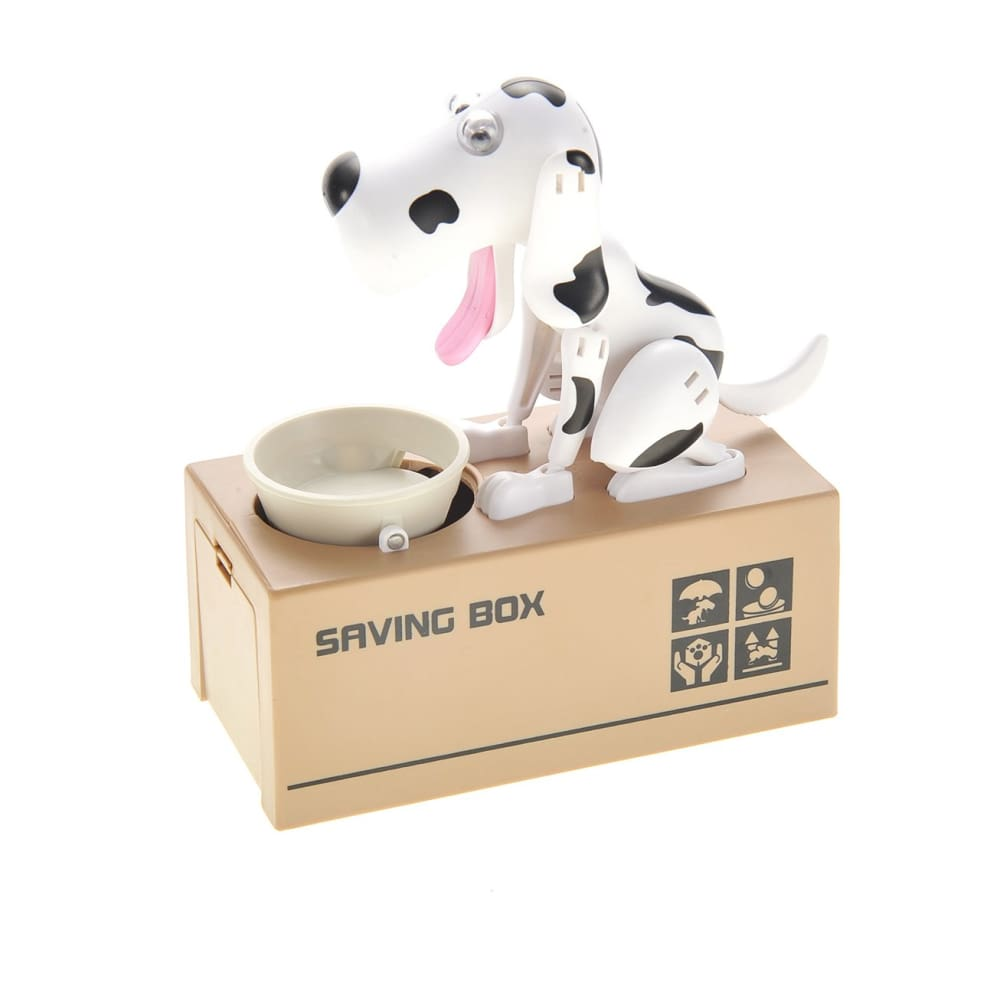 Dog Piggy Bank (Black White)