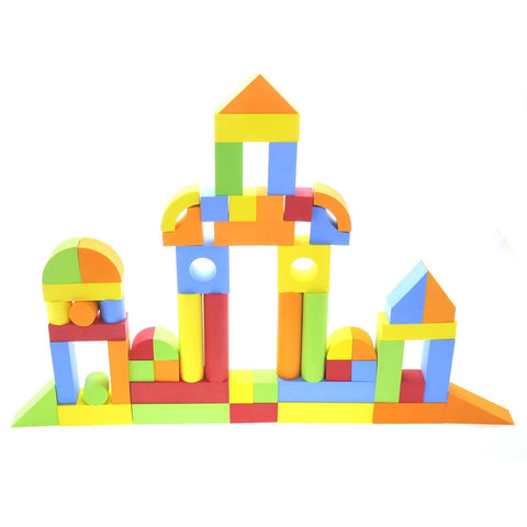Educational EVA Foam Building Blocks - 131 Pcs
