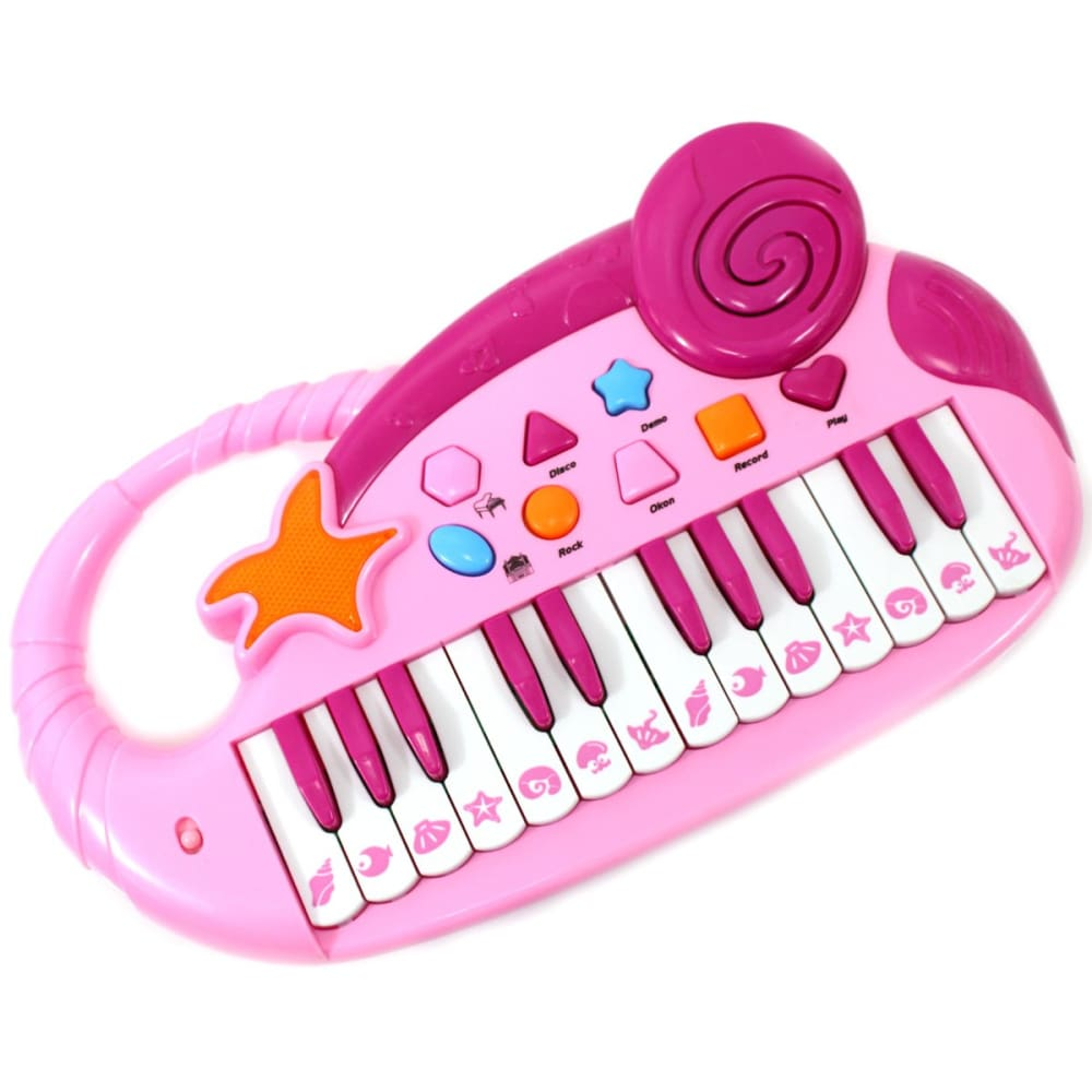 Electronic Piano Keyboard With Record And Playback (Pink)