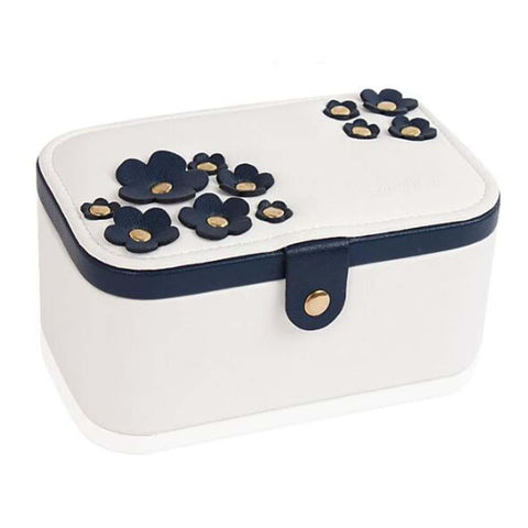 Image of Elegant Jewelry Box-flower Pattern Style Jewelry Organizer-white - Home decor
