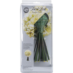 Fresh Look Bouquet Holder 4.5x2.5x9.5-green - Party Supplies