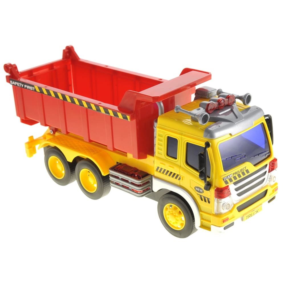Friction Powered Dump Truck Toy With Lights And Sound