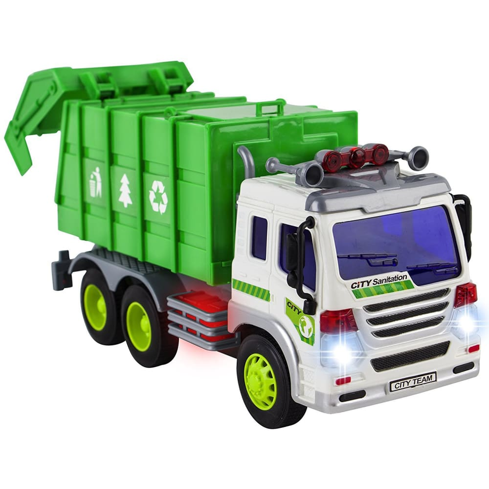 Friction Powered Garbage Truck With Lights And Sounds