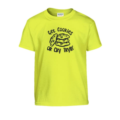 Image of Get Cookies Or Cry Tryin Kids Tee - Daisy / S - Kids