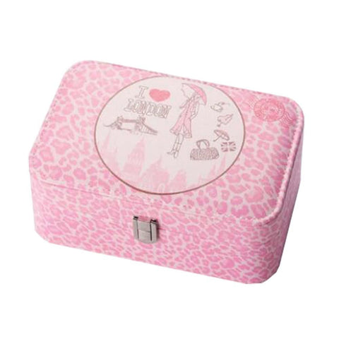 Image of High-quality Girls Jewelry Box-elegant Jewelry Box-leopard-pink - Home decor