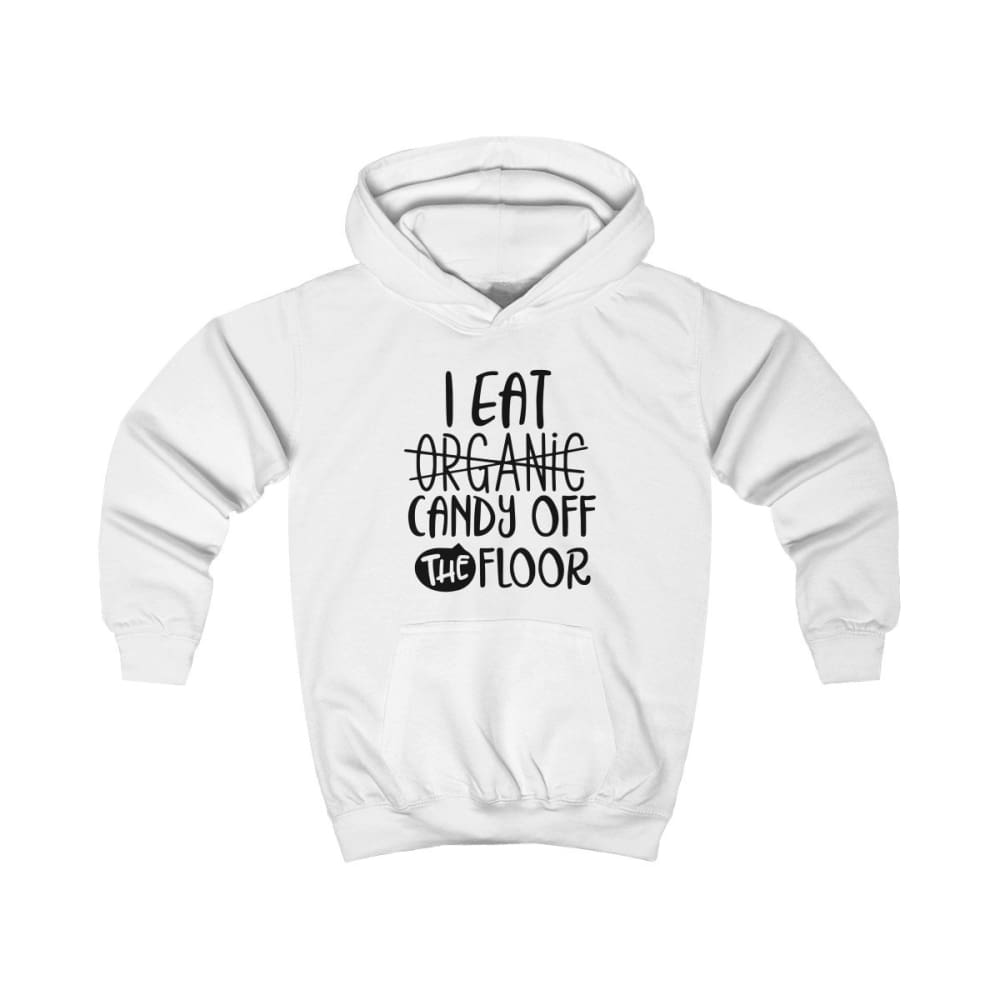 I eat Candy Off The Floor Kids Hoodie - Arctic White / L - Kids clothes